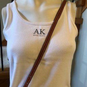 Anne Klein White Cotton Tank Top in sz M - EUC